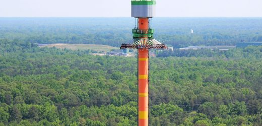 The tallest drop tower rides in North America