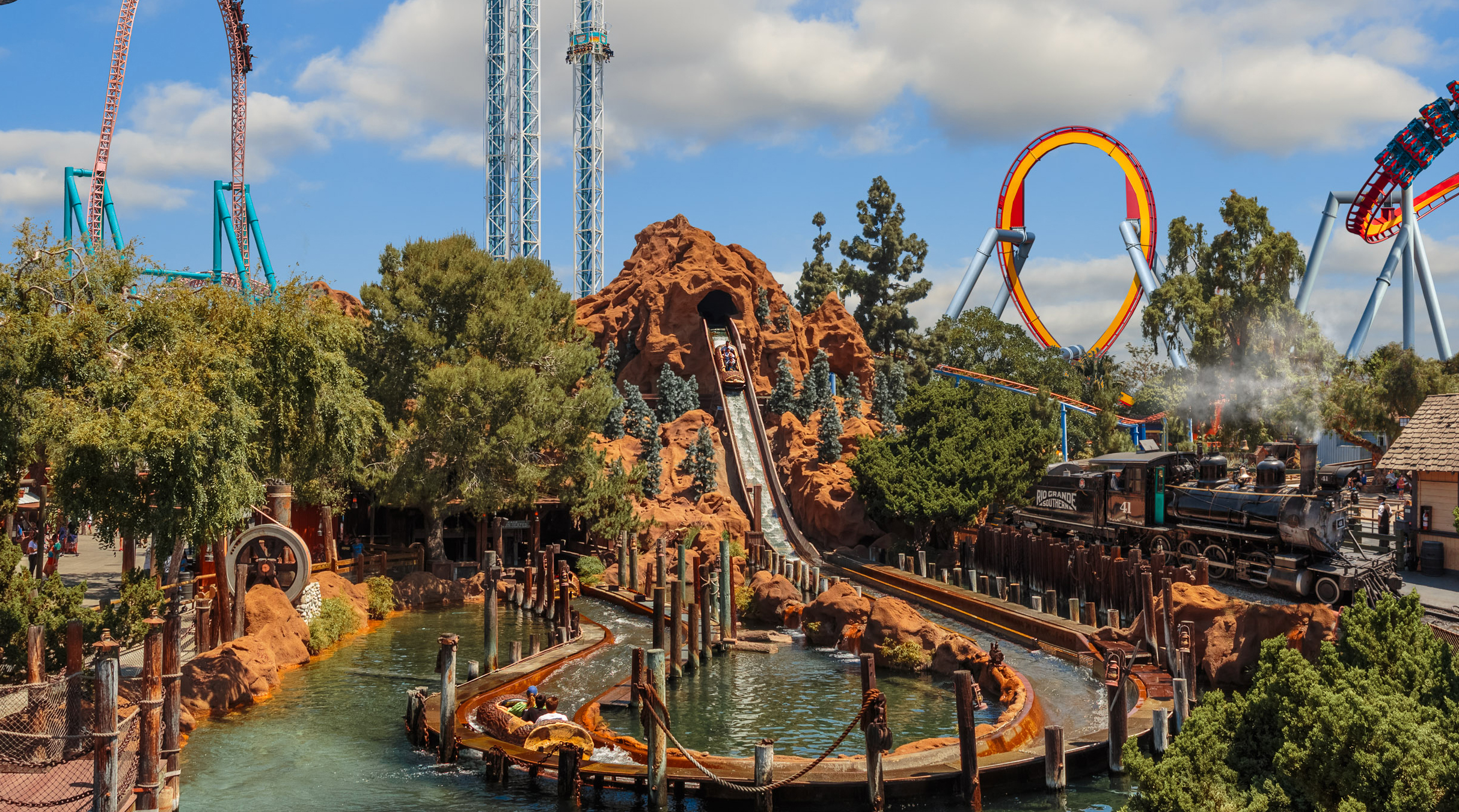 These log flume rides make quite a splash