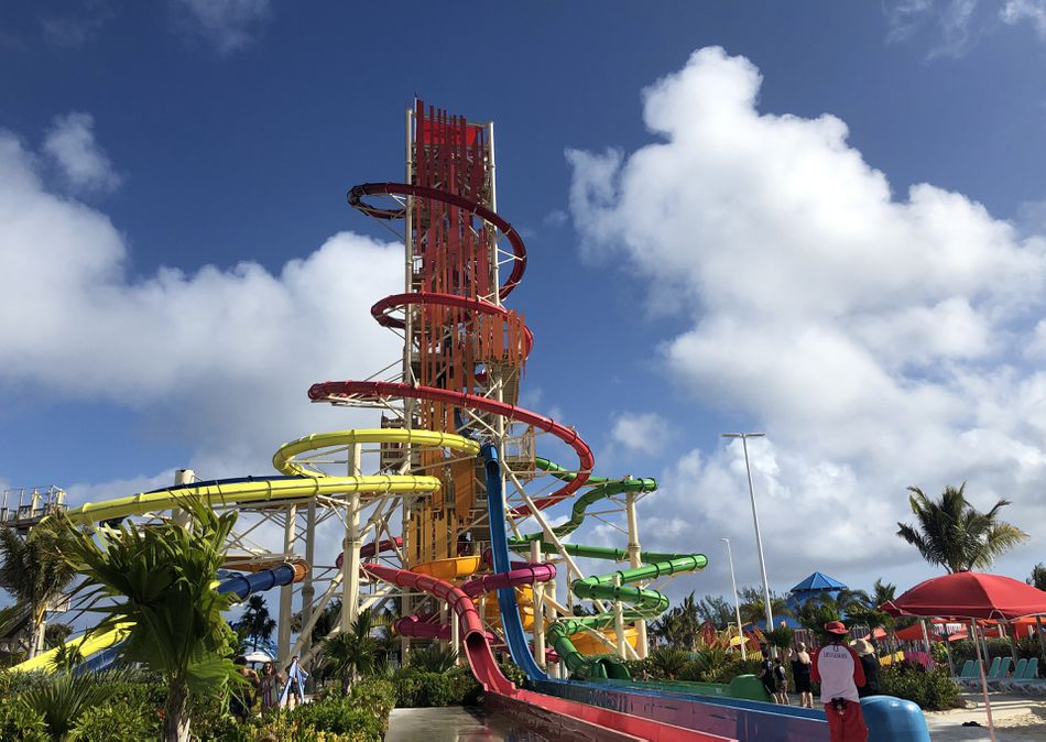 Could you handle this crazy-tall water slide?